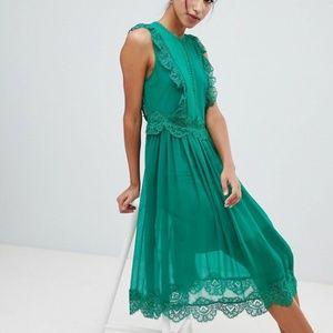 Ted Baker Women's PORRLA Frill Lace Midi Dress